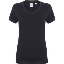 Textil Mulher T-Shirt mangas curtas Skinni Fit SK122 Marinha