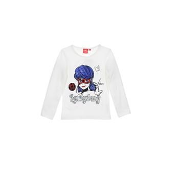 Textil Rapariga T-shirt mangas compridas TEAM HEROES  MIRACULOUS LADYBUG Branco