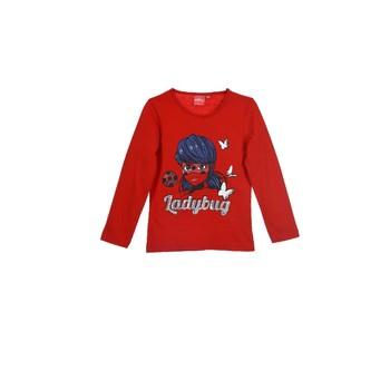 Textil Rapariga T-shirt mangas compridas TEAM HEROES  MIRACULOUS LADYBUG Vermelho