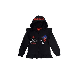 Textil Rapariga Sweats TEAM HEROES  MIRACULOUS LADYBUG SWEAT Preto