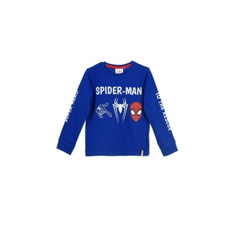 Textil Rapaz Sweats TEAM HEROES  SPIDERMAN  TSHIRT ML Azul