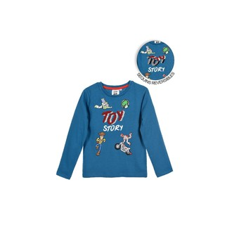 Textil Rapaz T-shirt mangas compridas TEAM HEROES  TOY STORY Azul