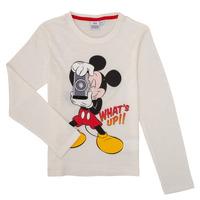 Textil Rapaz T-shirt mangas compridas TEAM HEROES  MICKEY Branco