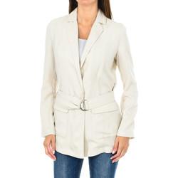 Textil Mulher Casacos/Blazers Armani jeans Blazer con cinturón Bege