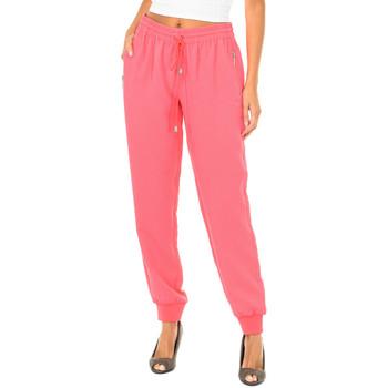 Textil Mulher Calças finas / Sarouels Armani jeans Pantalones largos Rosa