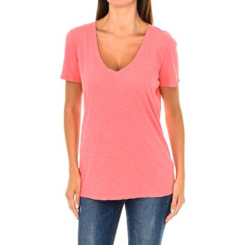Textil Mulher T-Shirt mangas curtas Armani jeans Camiseta manga corta Vermelho