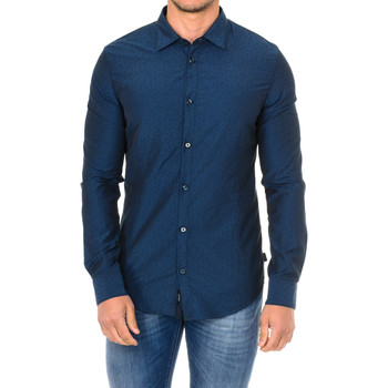 Textil Homem Camisas mangas comprida Armani jeans Camisa manga larga Azul