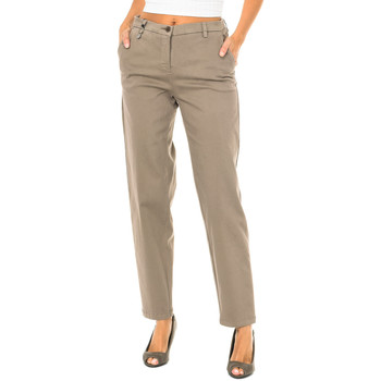 Textil Mulher Chinos Armani jeans Pantalones largos Castanho