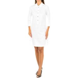 Textil Mulher Vestidos curtos Armani jeans Vestido manga larga Branco