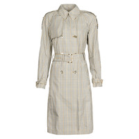 Textil Mulher Trench MICHAEL Michael Kors PLAID PACKABLE TRENCH Bege