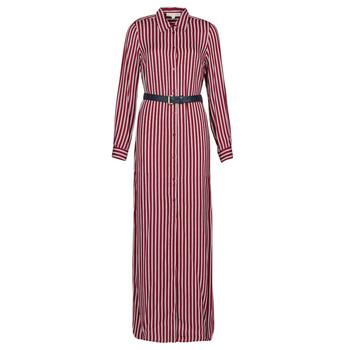 Textil Mulher Vestidos compridos MICHAEL Michael Kors WARM PLAYFL SHIRT DR Bordô / Branco / Marinho