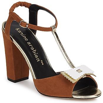 Sapatos Mulher Sandálias Karine Arabian ABBAZIA Areia / Branco / Dourado