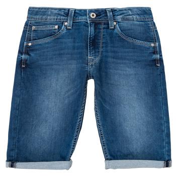 Textil Rapaz Shorts / Bermudas Pepe jeans CASHED SHORT Azul