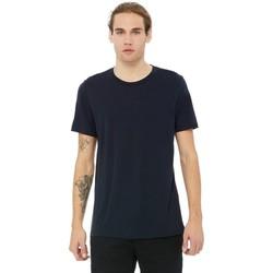 Textil Homem T-Shirt mangas curtas Bella + Canvas CA3413 Sólido Triblend da Marinha
