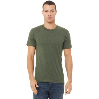 Textil Homem T-Shirt mangas curtas Bella + Canvas CA3413 Triblend Verde Militar