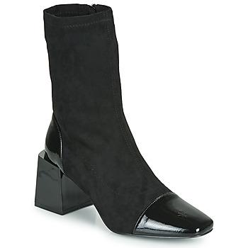 Sapatos Mulher Botins Vanessa Wu BOTTINES CHAUSSETTES À TALON BLOC Preto