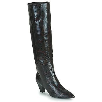 Sapatos Mulher Botas Vanessa Wu BOTTES SERPENT À TALON CUBAIN Preto