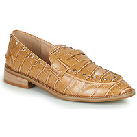 Sapatos Mulher Mocassins Vanessa Wu MOCASSINS EFFET CROCO À CLOUS Castanho