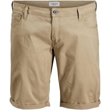 Textil Homem Shorts / Bermudas Jack & Jones 12168172 JJIRICK ORG SHORT AKM 799 PS KELP Beige