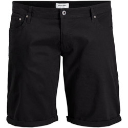 Textil Homem Shorts / Bermudas Jack & Jones 12168172 JJIRICK ORG SHORT AKM 799 PS BLACK Negro