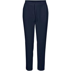 Textil Mulher Calças Vero Moda 10227814 VMSIMPLY EASY NW LOOSE PANT WMN GA NAVY BLAZER Azul marino
