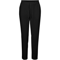 Textil Mulher Calças Vero Moda 10227814 VMSIMPLY EASY NE LOOSE PANT WNN GA BLACK Negro