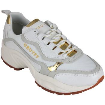Sapatos Mulher Sapatilhas Cruyff ghillie white/gold Branco