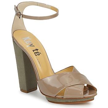 Sapatos Mulher Sandálias Keyté KRISTAL-26722-TAUPE-FLY-3 Toupeira