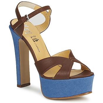 Sapatos Mulher Sandálias Keyté CUBA-LUX-MARRONE-FLY-9 Castanho
