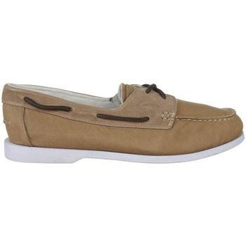 Sapatos Homem Sapato de vela Lacoste Navire Casual 216 1 Castanho