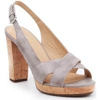 Sapatos Mulher Sandálias Geox D Mauvelle Cinzento