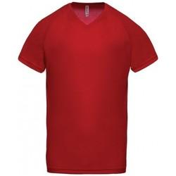 Textil Homem T-Shirt mangas curtas Proact T-Shirt Col V  Sport rouge
