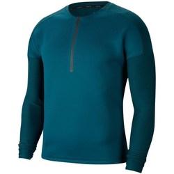 Textil Homem T-shirt mangas compridas Nike Tech Pack Azul marinho, Verde claro, Cor azul-turquesa