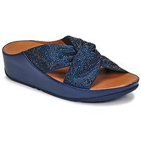 Sapatos Mulher Sandálias FitFlop TWISS CRYSTAL SLIDE Azul