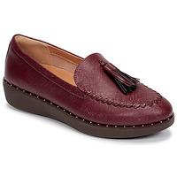 Sapatos Mulher Mocassins FitFlop PETRINA PATENT LOAFERS Vermelho