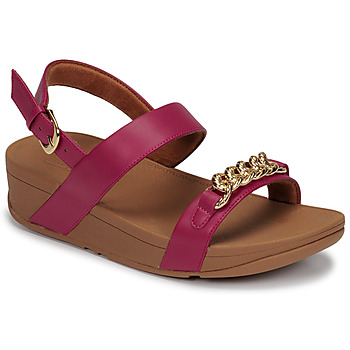 Sapatos Mulher Sandálias FitFlop LOTTIE CHAIN BACK-STRAP SANDALS Rosa fúchia