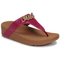 Sapatos Mulher Sandálias FitFlop LOTTIE CHAIN TOE-THONGS Rosa fúchia