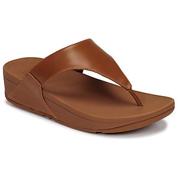 Sapatos Mulher Sandálias FitFlop LULU LEATHER TOEPOST Caramelo