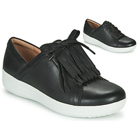 Sapatos Mulher Sapatilhas FitFlop F-SPORTY II LACE UP FRINGE SNEAKERS - LEATHER Preto