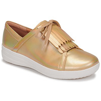 Sapatos Mulher Sapatilhas FitFlop F-SPORTY II LACE UP FRINGE SNEAKERS-IRIDESCENT LTR Ouro