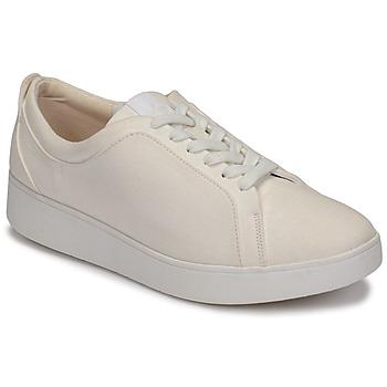 Sapatos Mulher Sapatilhas FitFlop RALLY DENIM Branco