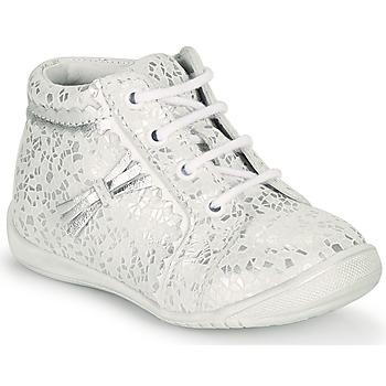 Sapatos Rapariga Sapatilhas de cano-alto GBB ACINTA Branco / Prata