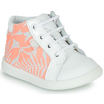 Sapatos Rapariga Sapatilhas de cano-alto GBB FAMIA Branco / Rosa