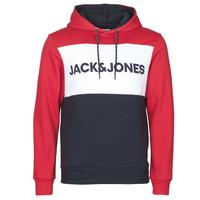 Textil Homem Sweats Jack & Jones JJELOGO BLOCKING Vermelho
