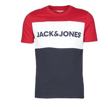 Textil Homem T-Shirt mangas curtas Jack & Jones JJELOGO BLOCKING Vermelho