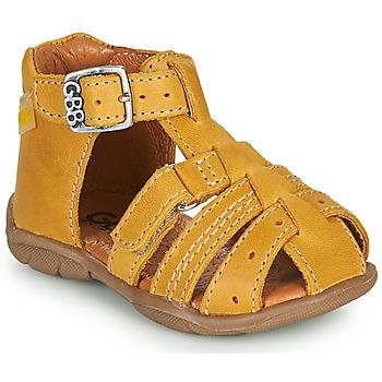 Sapatos Rapaz Sandálias GBB ARIGO Amarelo