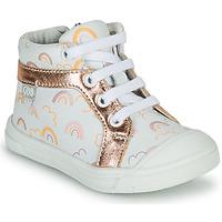 Sapatos Rapariga Sapatilhas de cano-alto GBB LEOZIA Branco / Rosa