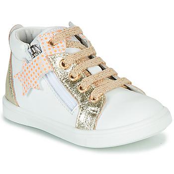 Sapatos Rapariga Sapatilhas de cano-alto GBB VALA Branco / Ouro