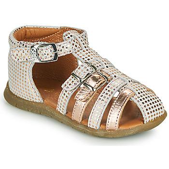 Sapatos Rapariga Sandálias GBB PERLE Branco / Rosa / Ouro