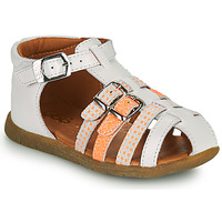 Sapatos Rapariga Sandálias GBB PERLE Branco / Laranja